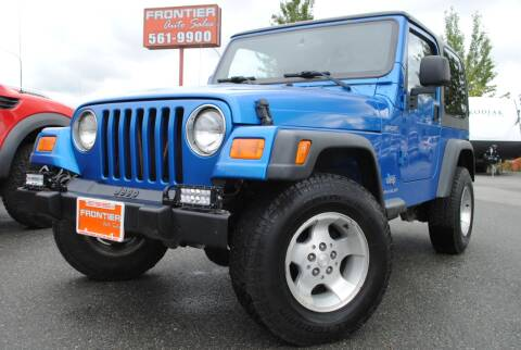 2003 Jeep Wrangler for sale at Frontier Auto & RV Sales in Anchorage AK