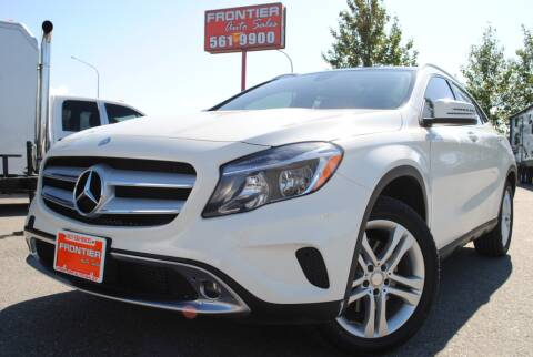 2017 Mercedes-Benz GLA for sale at Frontier Auto & RV Sales in Anchorage AK