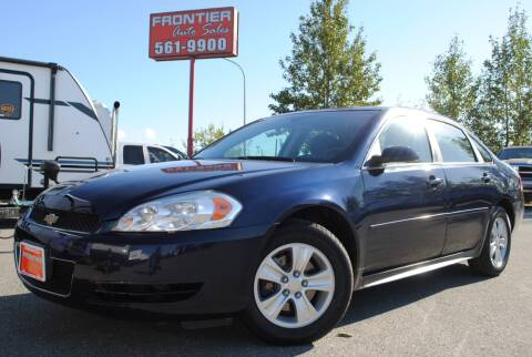 2012 Chevrolet Impala for sale at Frontier Auto & RV Sales in Anchorage AK