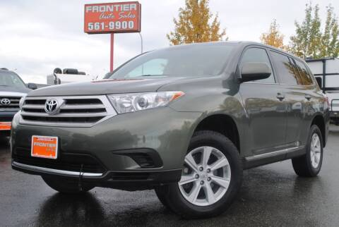 2013 Toyota Highlander for sale at Frontier Auto & RV Sales in Anchorage AK