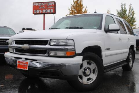 2002 Chevrolet Tahoe for sale at Frontier Auto & RV Sales in Anchorage AK