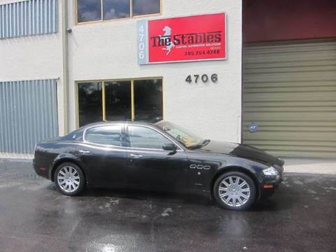 2006 Maserati Quattroporte for sale at The Stables Miami in Miami FL