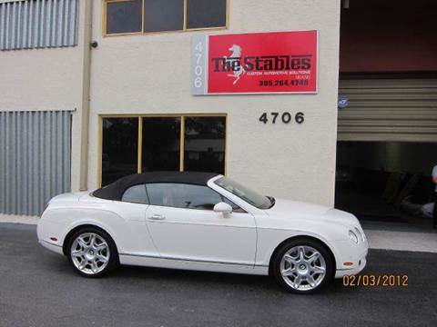 2009 Bentley Continental GTC for sale at The Stables Miami in Miami FL
