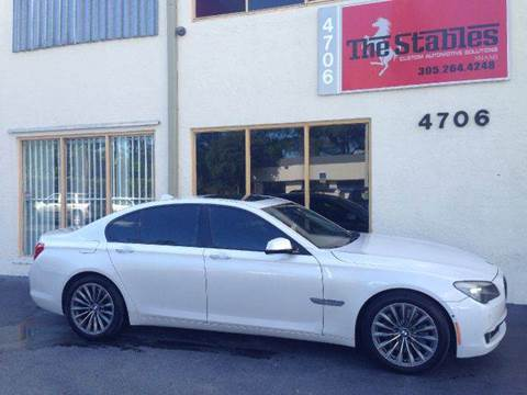 2009 BMW 7 Series for sale at The Stables Miami in Miami FL