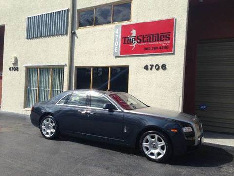 2011 Rolls-Royce Ghost for sale at The Stables Miami in Miami FL