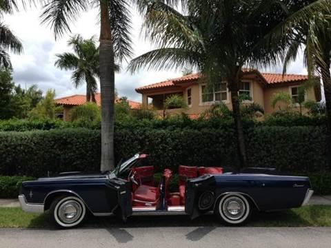 1966 Lincoln Continental for sale at The Stables Miami in Miami FL