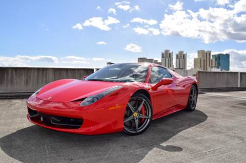 2012 Ferrari 458 Spider for sale at The Stables Miami in Miami FL