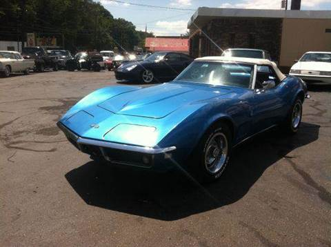 1968 Chevrolet Corvette for sale at ELIZABETH AUTO SALES in Elizabeth PA