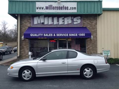 2000 Chevrolet Monte Carlo for sale at Miller's Autos Sales and Service Inc. in Dillsburg PA