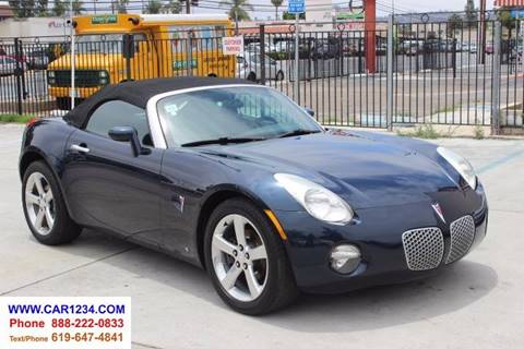 2006 Pontiac Solstice for sale at Car 1234 inc in El Cajon CA