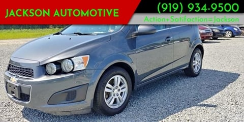 2013 Chevrolet Sonic for sale at Jackson Automotive in Smithfield NC