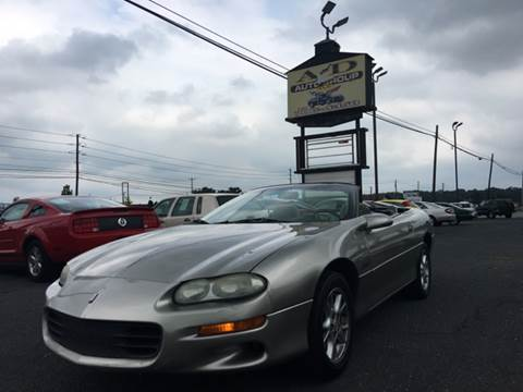 2000 Chevrolet Camaro for sale at A & D Auto Group LLC in Carlisle PA