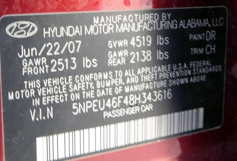 2008 Hyundai Sonata SE V6