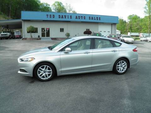 2016 Ford Fusion for sale at Ted Davis Auto Sales in Riverton WV