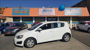 2012 Chevrolet Sonic for sale at ST GEORGE AUTO GALLERY in St George UT