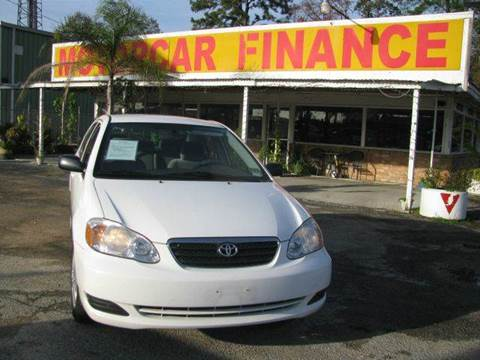 2008 Toyota Corolla for sale at MOTOR CAR FINANCE in Houston TX