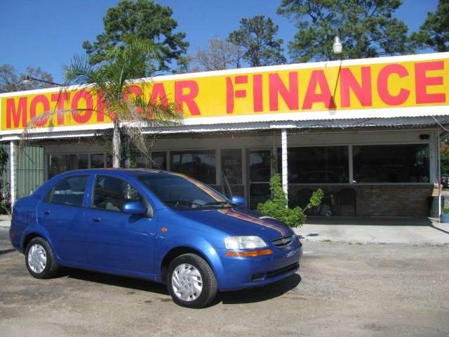 2004 Chevrolet Aveo for sale at MOTOR CAR FINANCE in Houston TX