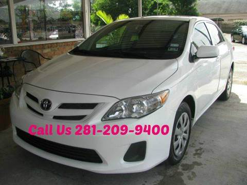 2013 Toyota Corolla for sale at MOTOR CAR FINANCE in Houston TX