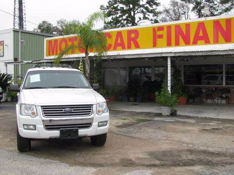 2010 Ford Explorer for sale at MOTOR CAR FINANCE in Houston TX