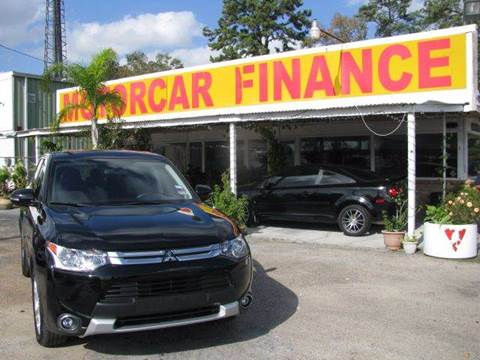2015 Mitsubishi Outlander for sale at MOTOR CAR FINANCE in Houston TX