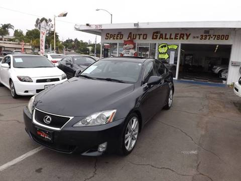2007 Lexus IS 250 for sale at Speed Auto Gallery in La Mesa CA