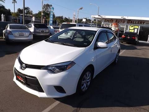 2016 Toyota Corolla for sale at Speed Auto Gallery in La Mesa CA