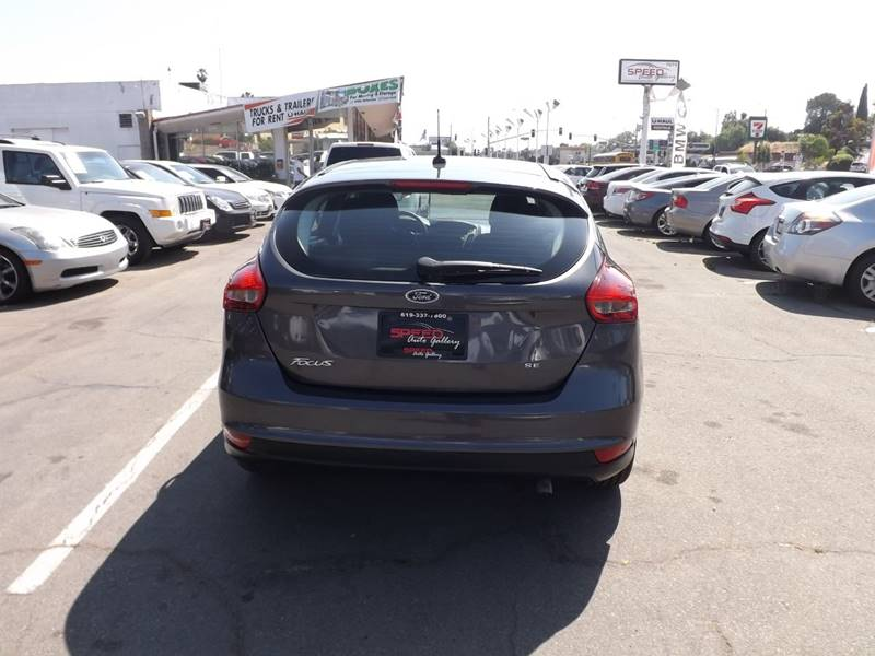 2016 Ford Focus for sale at Speed Auto Gallery in La Mesa CA