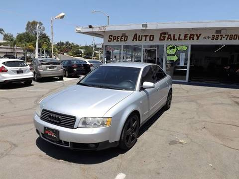 2003 Audi A4 for sale at Speed Auto Gallery in La Mesa CA
