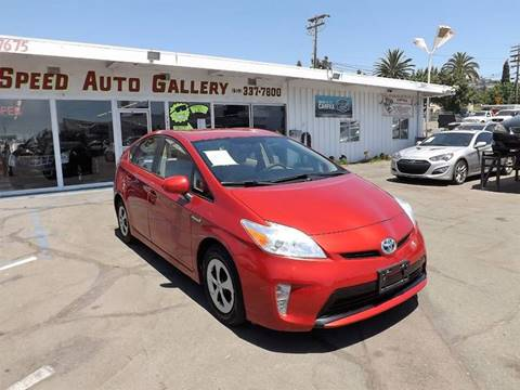2013 Toyota Prius for sale at Speed Auto Gallery in La Mesa CA