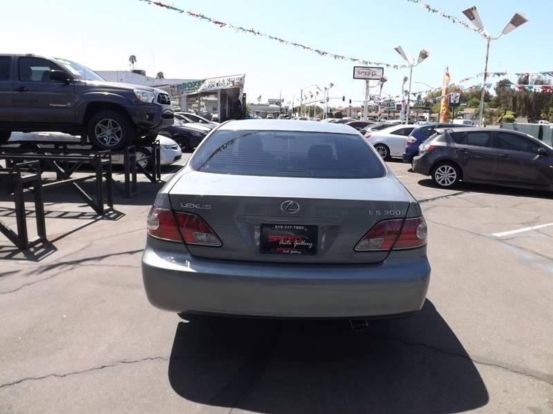 2003 Lexus ES 300 for sale at Speed Auto Gallery in La Mesa CA