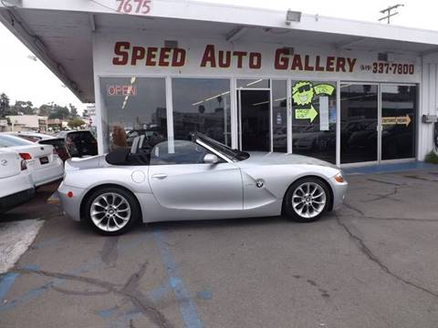 2004 BMW Z4 for sale at Speed Auto Gallery in La Mesa CA