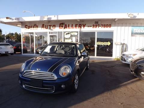 2012 MINI Cooper Hardtop for sale at Speed Auto Gallery in La Mesa CA