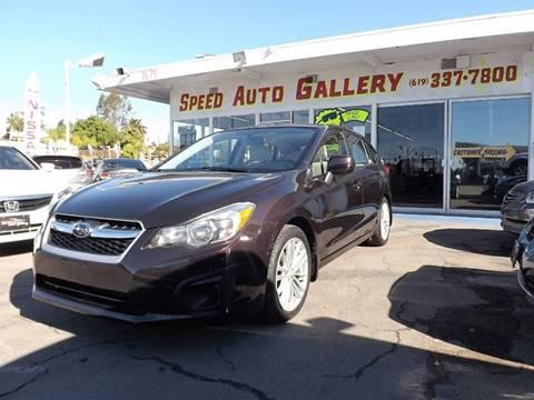 2012 Subaru Impreza for sale at Speed Auto Gallery in La Mesa CA
