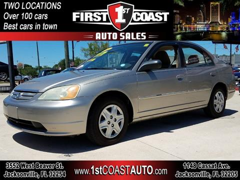 2003 Honda Civic for sale at 1st Coast Auto -Cassat Avenue in Jacksonville FL
