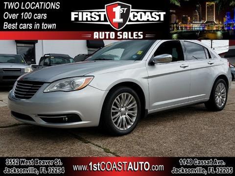 2012 Chrysler 200 for sale at 1st Coast Auto -Cassat Avenue in Jacksonville FL