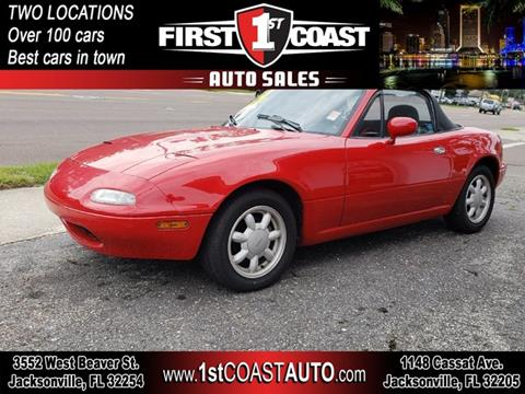 1990 Mazda MX-5 Miata for sale at 1st Coast Auto -Cassat Avenue in Jacksonville FL