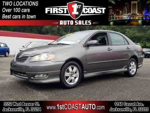 2007 Toyota Corolla for sale at 1st Coast Auto -Cassat Avenue in Jacksonville FL