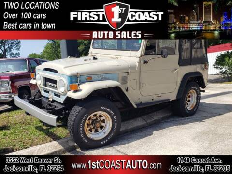 1973 Toyota Land Cruiser for sale at 1st Coast Auto -Cassat Avenue in Jacksonville FL