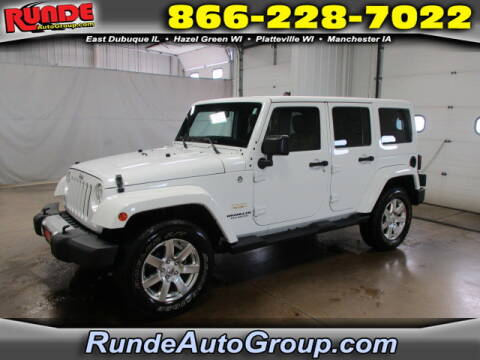 2015 Jeep Wrangler Unlimited for sale at Runde Chevrolet in East Dubuque IL