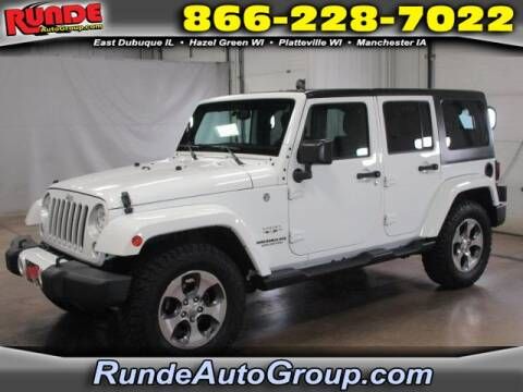 2016 Jeep Wrangler Unlimited for sale at Runde Chevrolet in East Dubuque IL