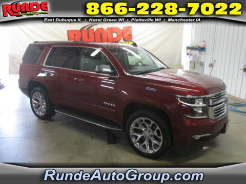 2016 Chevrolet Tahoe for sale at Runde Chevrolet in East Dubuque IL