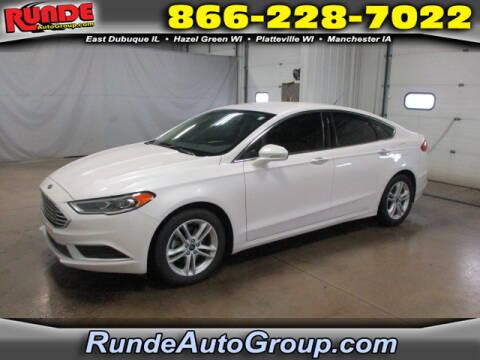 2018 Ford Fusion for sale at Runde Chevrolet in East Dubuque IL