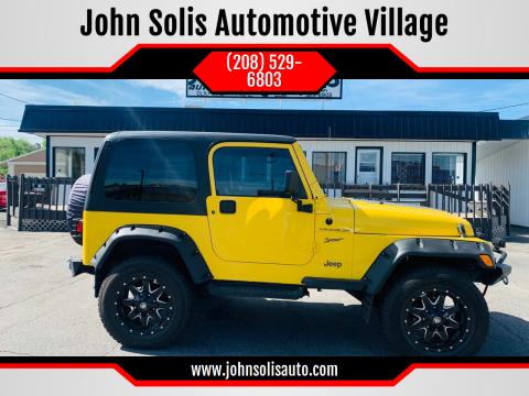 2002 Jeep Wrangler Sport for sale at John Solis Automotive Village in Idaho Falls ID