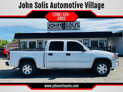 2006 GMC Sierra 1500 SLT for sale at John Solis Automotive Village in Idaho Falls ID