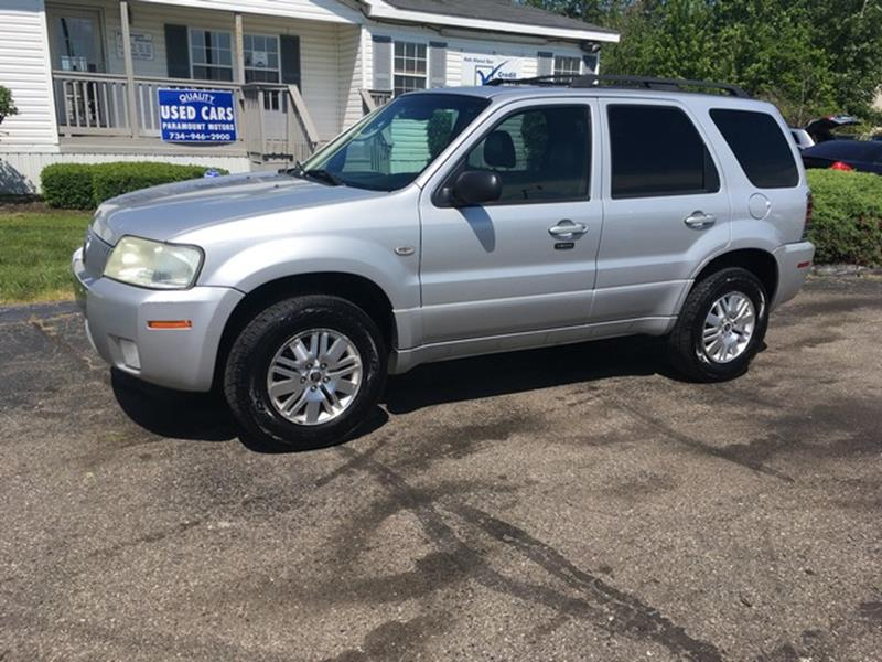 2005 MERCURY MARINER BASE 4DR SUV silver leather moon roof fwd v6 call now for fast credit ap