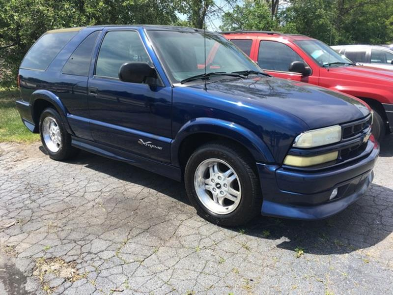 2003 CHEVROLET BLAZER EXTREME blue cloth interior all power call now for fast credit approval a
