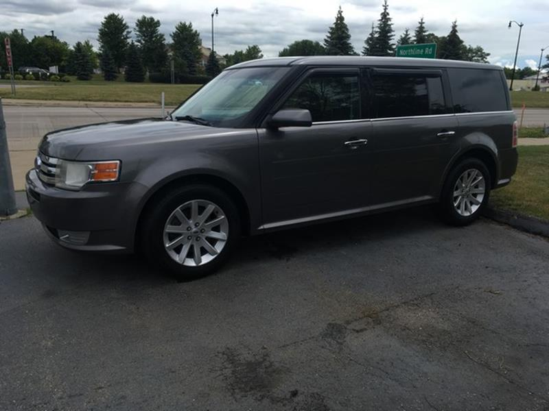 2009 FORD FLEX SEL AWD CROSSOVER 4DR gray awd leather moon roof 3rd row fully loaded air con