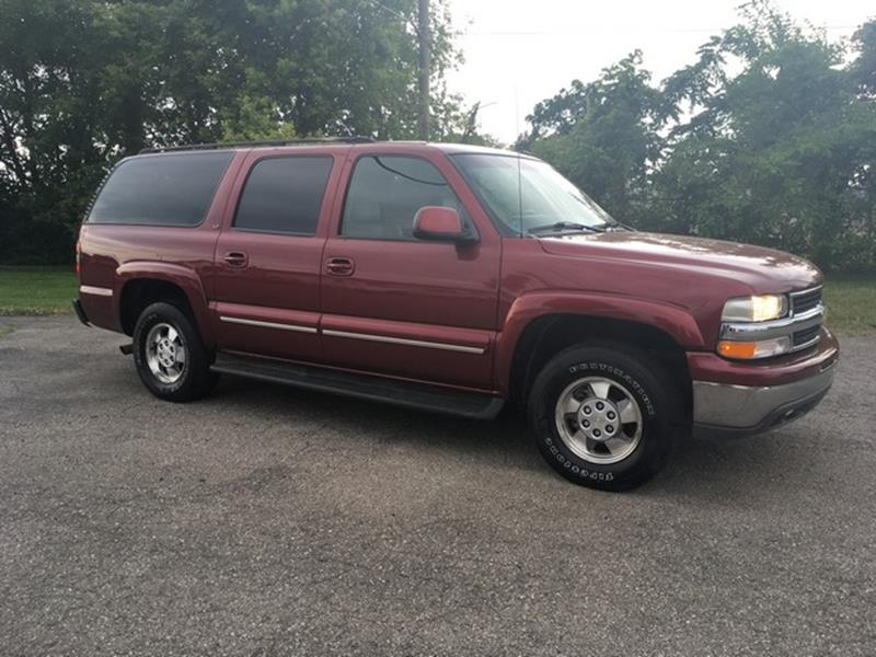 2003 CHEVROLET SUBURBAN LT red leather 3rd row v8 lt call now for fast credit approval 4 whee