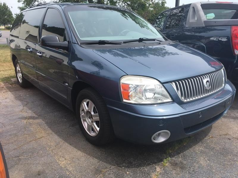 2004 MERCURY MONTEREY CONVENIENCE 4DR MINI VAN blue v6 fwd captains chairs power sliding door
