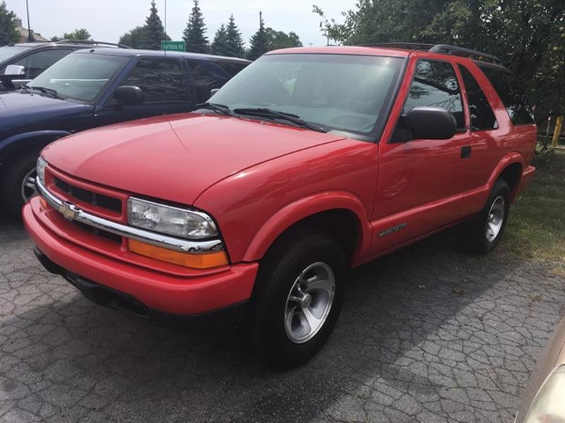 2002 CHEVROLET BLAZER LS 2WD 2DR SUV red only 78000 miles v6 new arrival air conditioning 4